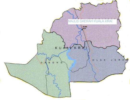 Peta daerah Kuala Krai